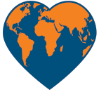 world heart symbol