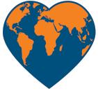 world heart symbol