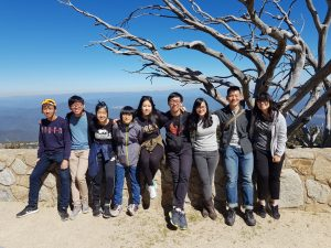 Daryl with his university schoolmates